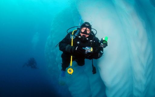 polar scuba diving on the greg mortimer ship