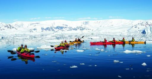 greg mortimer kayaking in antarctica