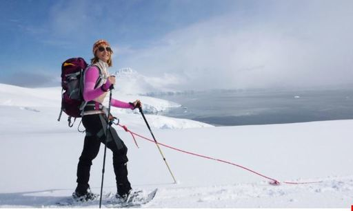 greg mortimer snowshoeing in antarctica