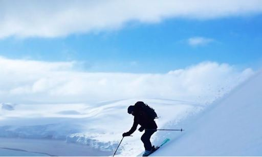 greg mortimer ski and snowboard in antarctica