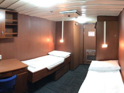spirit of enderby main deck twin cabin