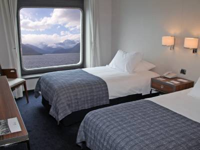 Patagonia fjords cruise cabin