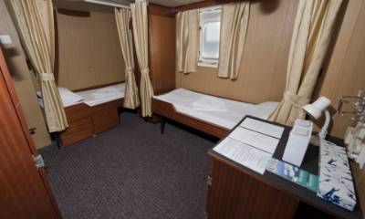 polar pioneer twin private cabin