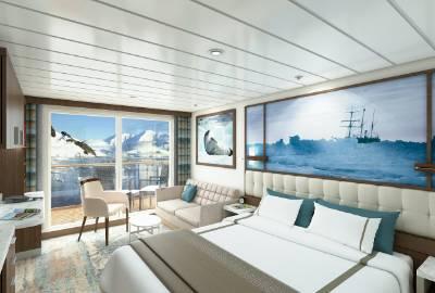 greg mortimer balcony stateroom cabin