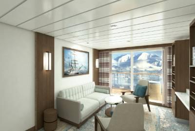 greg mortimer Captain's suite cabin
