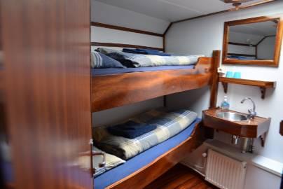 noorderlicht twin shared cabin.