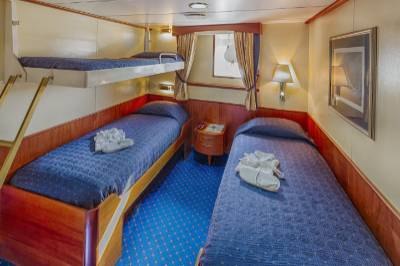 ocean adventurer Antarctica cruise triple cabin