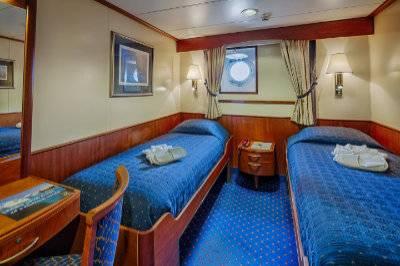 ocean adventurer Antarctica cruise main deck porthole cabin