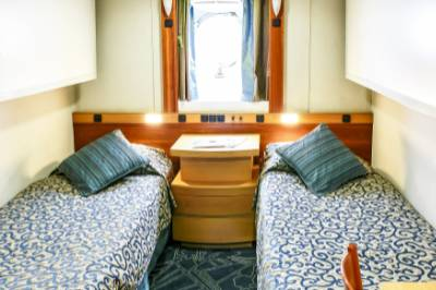 Ocean Endeavour Antarctica twin porthole cabin