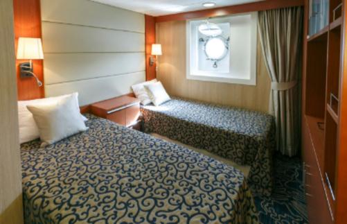 Ocean Endeavour Antarctica twin porthole suite