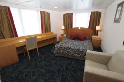 Ocean Endeavour Antarctica top deck double cabin