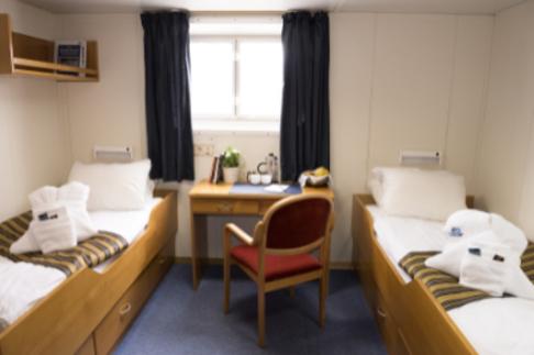 akademik ioffe twin superior cabin antarctica cruise
