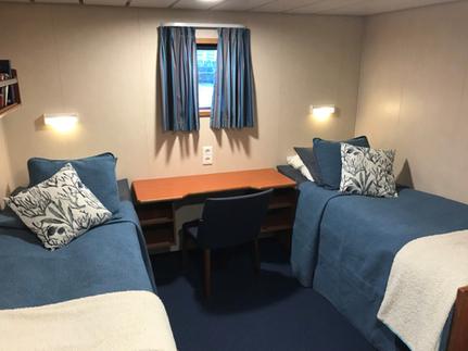 mv freya twin private cabin