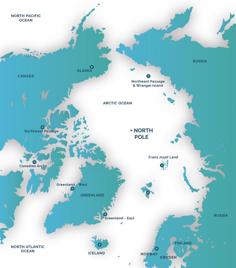 Complete arctic map