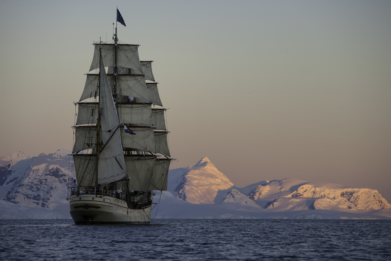 Bark Europa tall ship, Antarctica cruise
