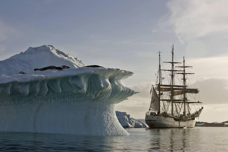 Iceberg, Bark Europa tall ship, Antarctica cruise