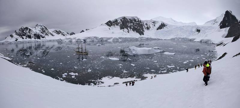 Exploring Antarctica, Bark Europa tall ship on an Antarctica cruise