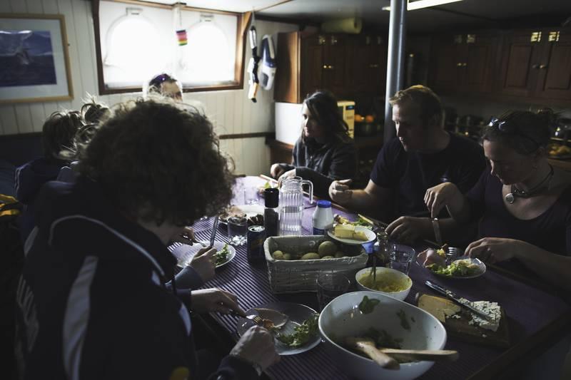 Hans Hansson dinning room, Antarctica cruise