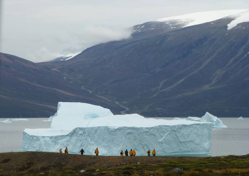 Hiking in Greenland, Arctic cruise