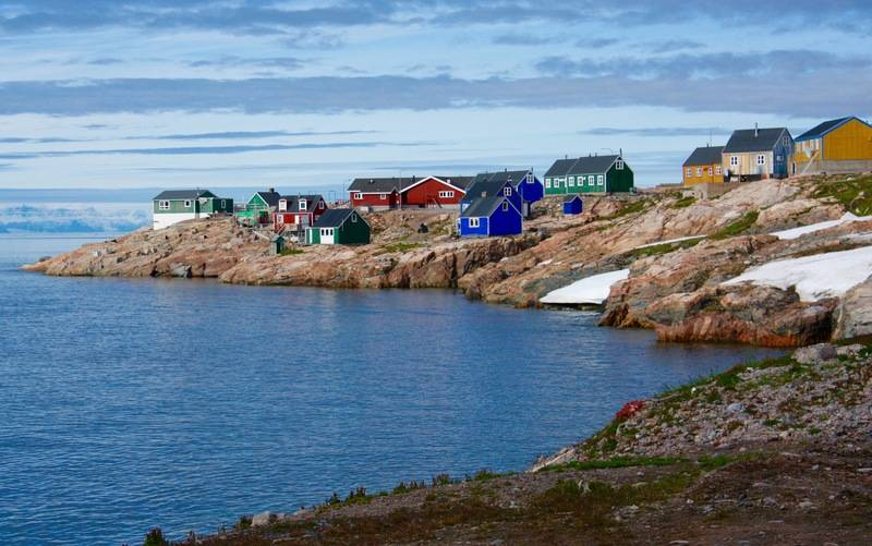 Greenland coastal town, Arctic cruise