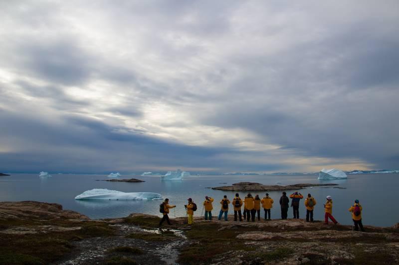 Twilight Arctic hike, Arctic cruise