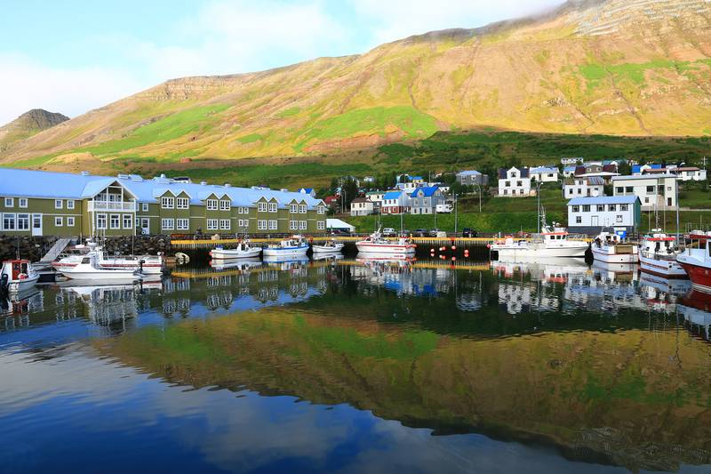 Coastal village, Arctic cruise