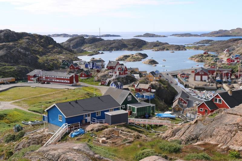 Greenland coastal village, Arctic cruise