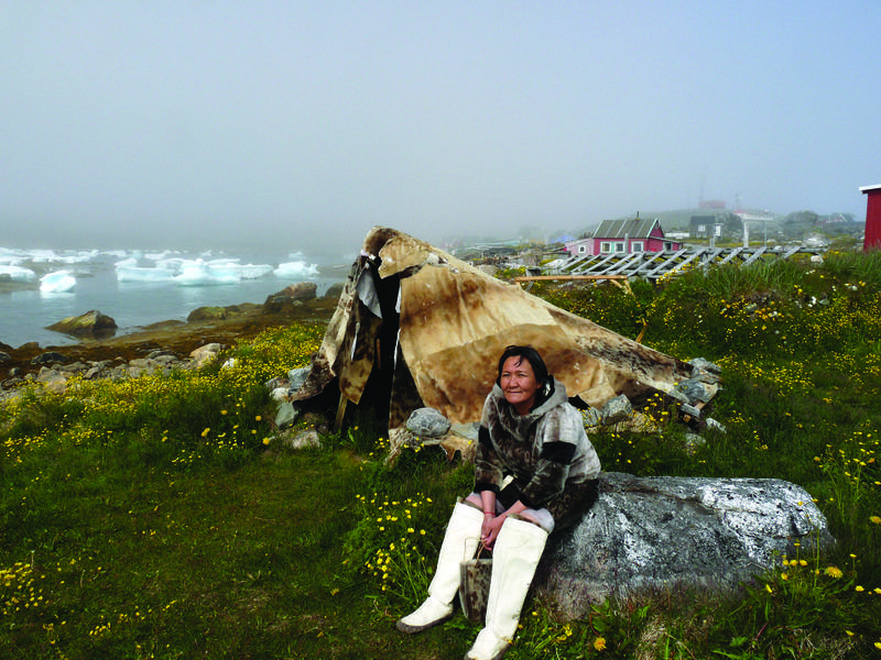 Greenland indigenous lady, Arctic cruise