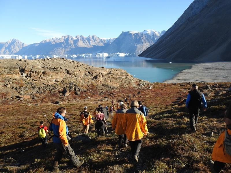 Hike in Greenland, Arctic cruise