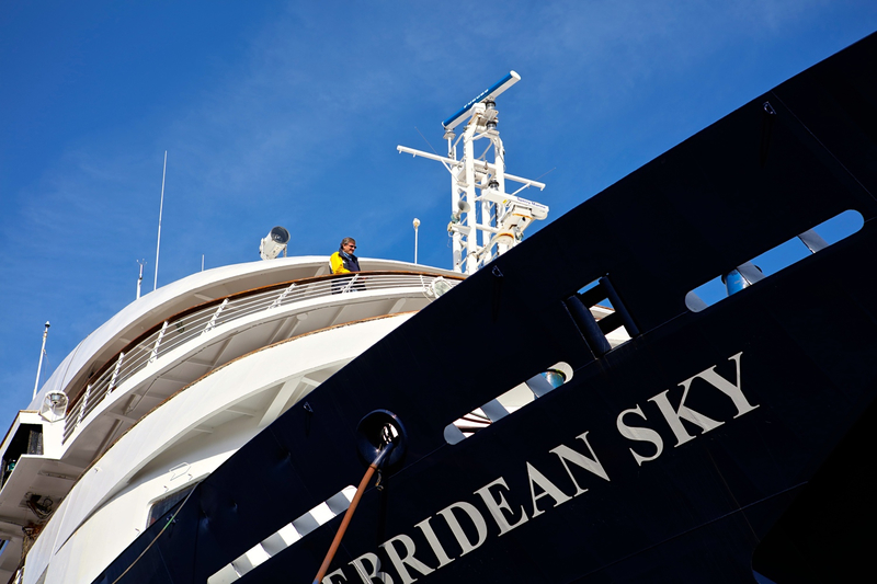 Hebridean Sky bow, Cruise to Antarctica
