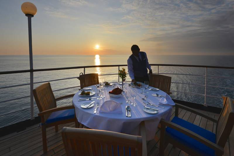 Outside dinning, Cruise to Antarctica