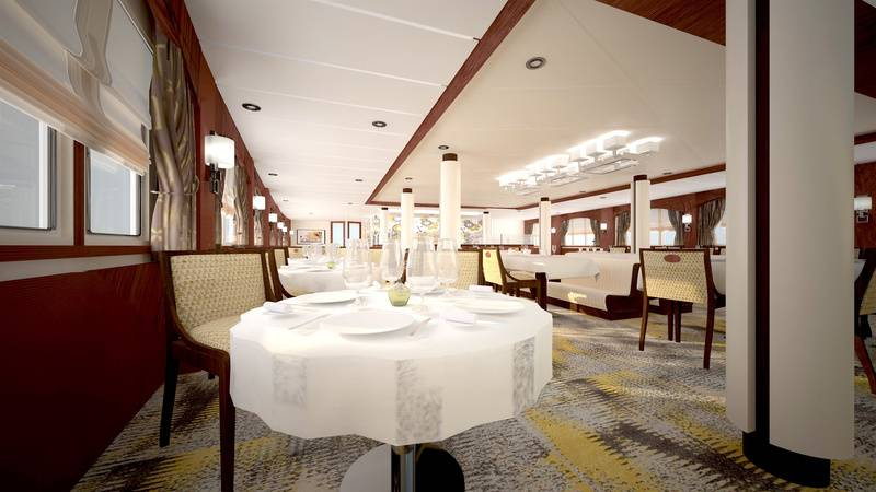 Ocean Adventurer dinning room, Cruise to Antarctica
