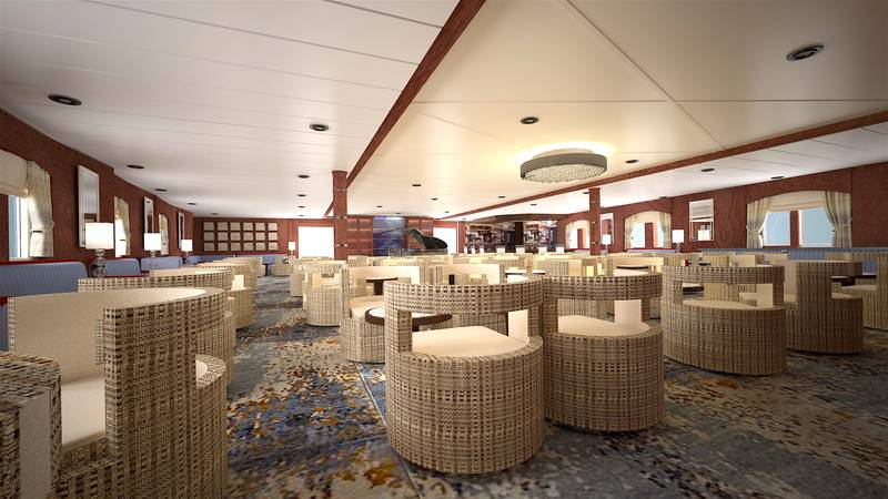 Ocean Adventurer lounge, Cruise to Antarctica