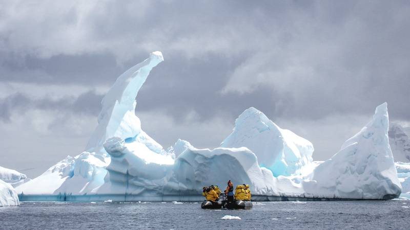 Zodiac cruise among icebergs, Cruise to Antarctica