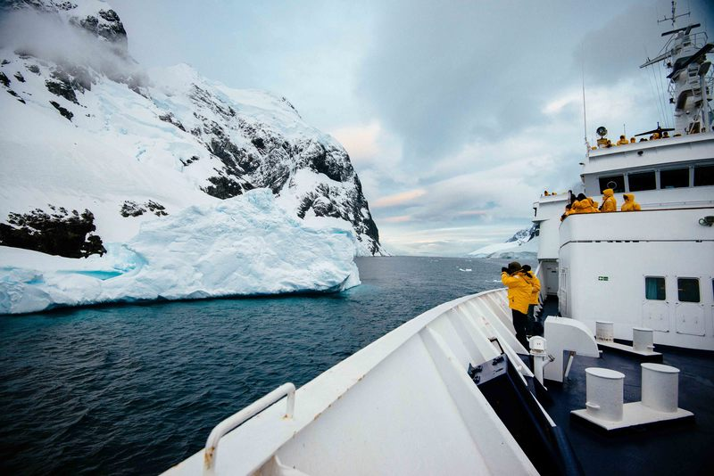 Cruise ship in Antarctic passage, Cruise to Antarctica
