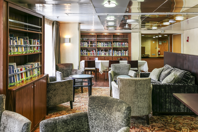Ocean Endeavour library, Cruise to Antarctica