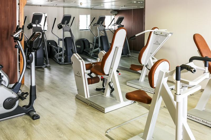 Ocean Endeavour gym, Cruise to Antarctica
