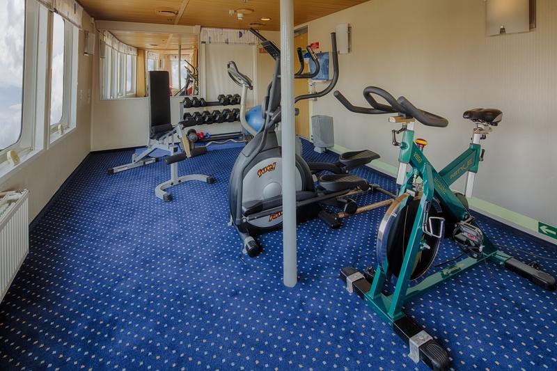 Ocean Nova gym, Cruise to Antarctica