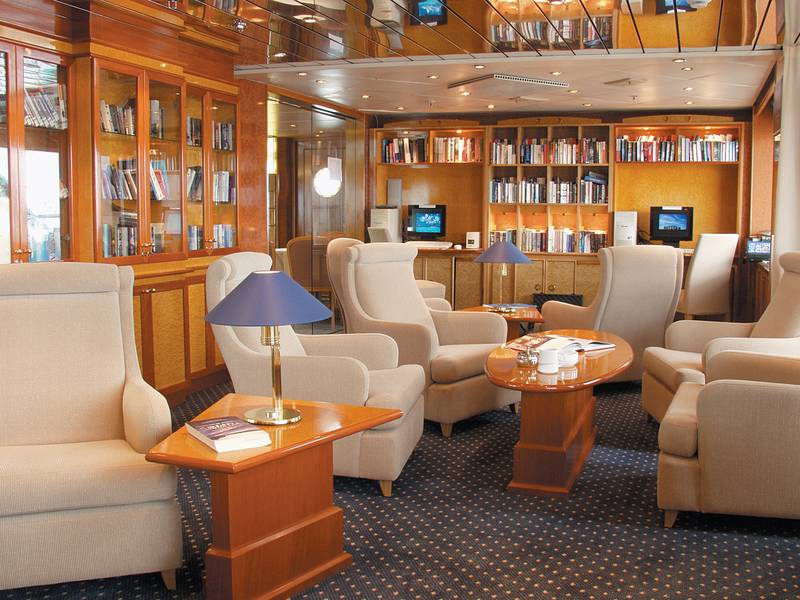 Island Sky Lounge, Cruise to Antarctica