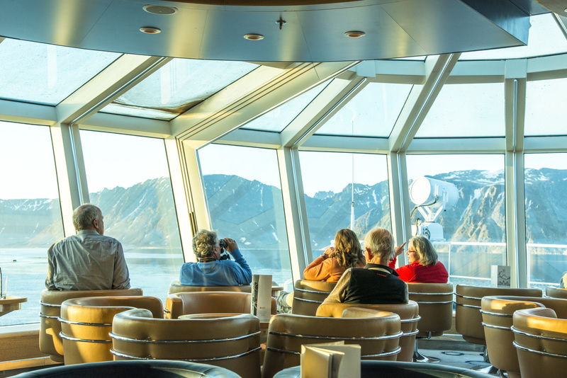 Fram observation deck, Cruise to Antarctica