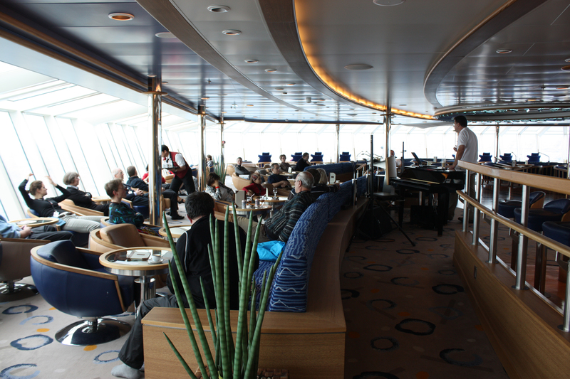 Fram lounge, Cruise to Antarctica