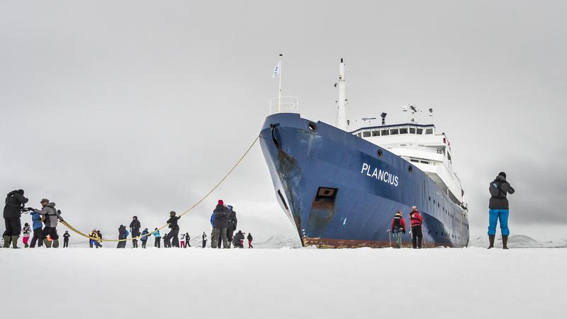 Plancius in ice, Cruise to Antarctica