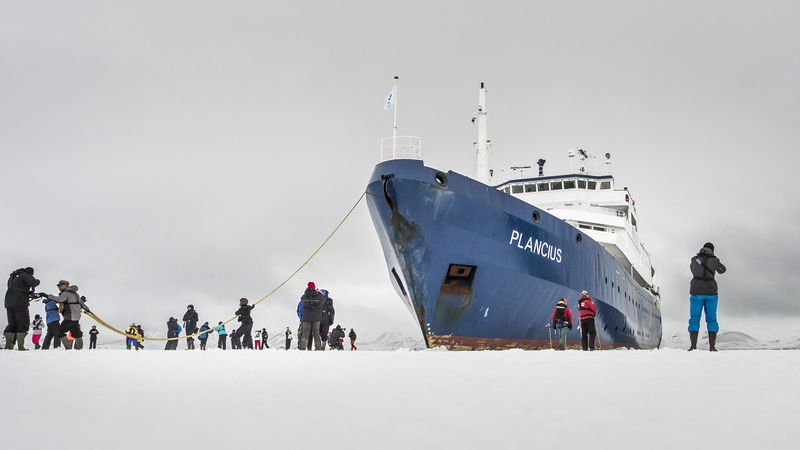 Plancius in ice, Cruise to Antarctica