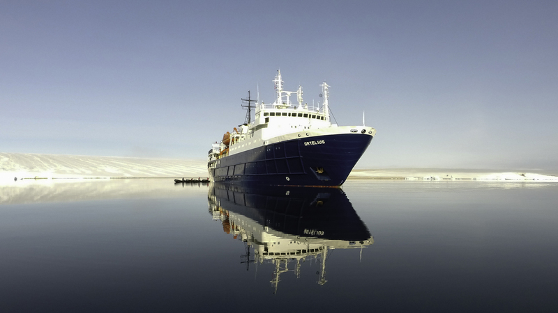 Ortelius reflection, Antarctica cruise