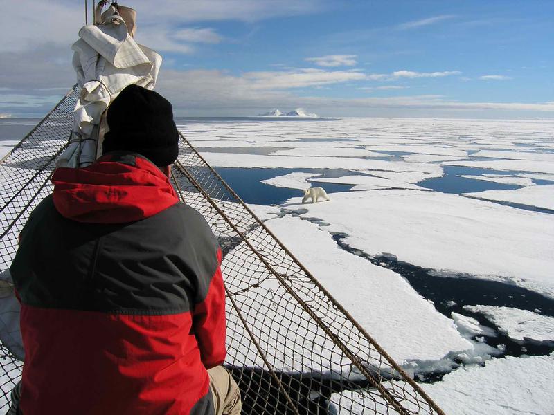 Noorderlicht in Arctic ice, Arctic cruise