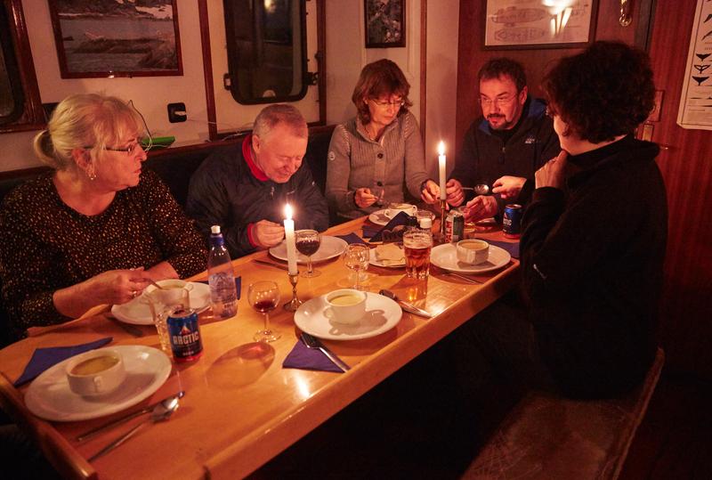 Noorderlicht dinning room, Arctic cruise