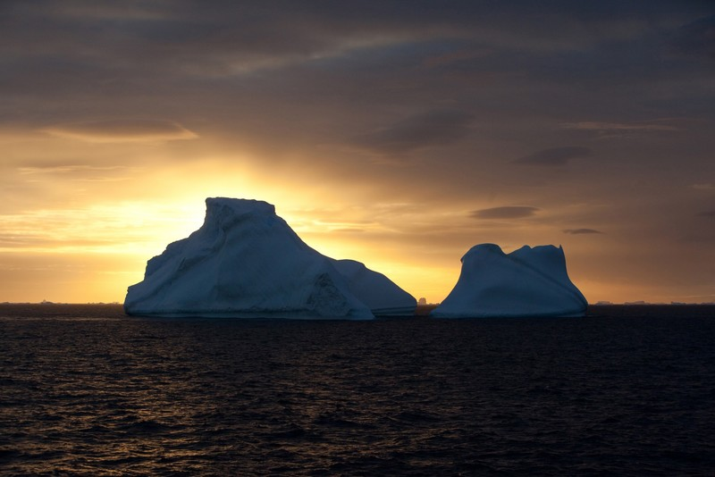 Ice berg in the Weddell Sea Antarctica, Cruise to Antarctica
