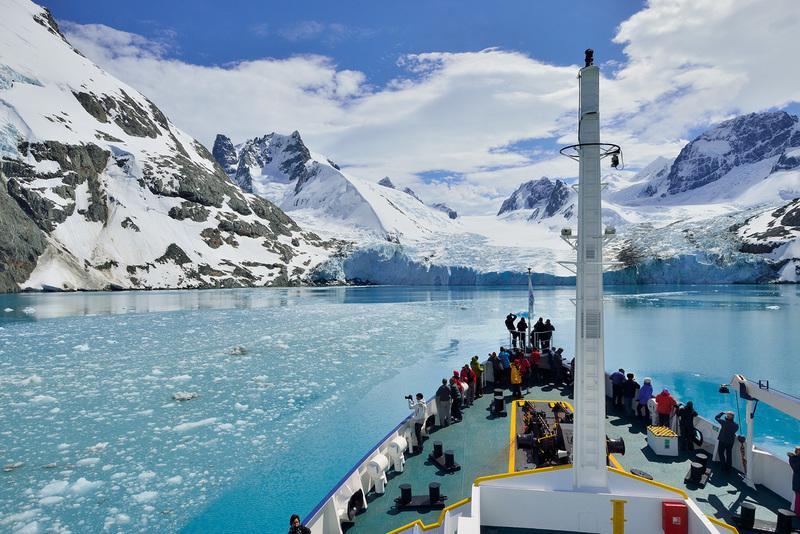 Ship in South Georgia, Antarctica cruise