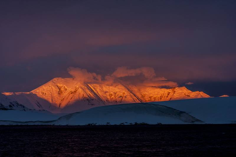 Antarctic sunset, Cruise to Antarctica