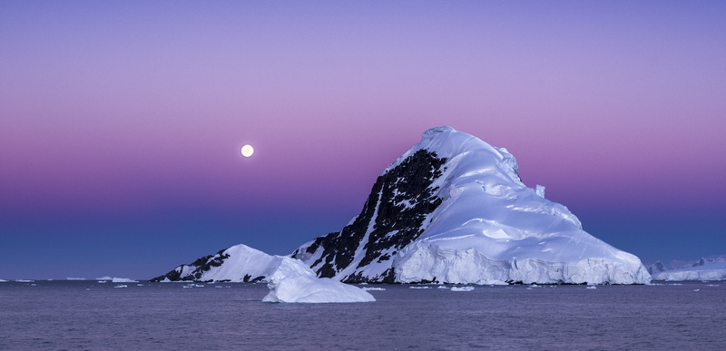 Antarctic twilight hues, Antarctica cruise